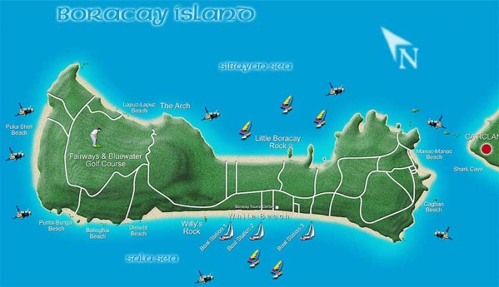 map of boracay